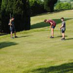 Pitch and put golf course, children playing golf, golf at bank farm